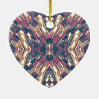 Moderne foncé multicolore ornement cœur en céramique
