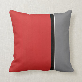 Moderne gris rouge coussin