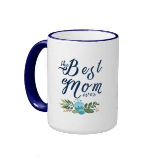 Moderne le texte bleu Ever- et la conception de la Mug Ringer