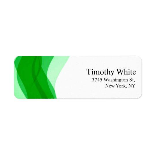 Moderne minimaliste élégant simple vert et blanc étiquette d'adresse retour