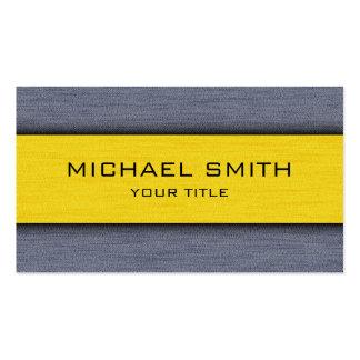 Moderne professionnel jaune et gris carte de visite standard