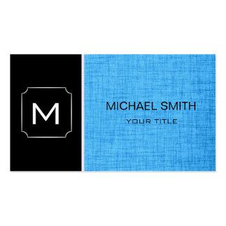 Moderne professionnel noir et bleu simple carte de visite standard