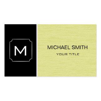 Moderne professionnel simple de vert noir et jaune carte de visite standard