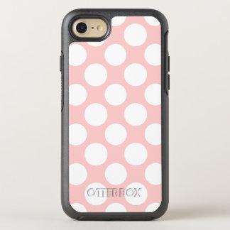 Moderne rougissent le motif de pois blanc rose coque otterbox symmetry pour iPhone 7