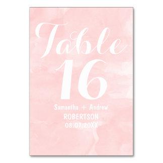 Moderne rougissent le nombre rose de table
