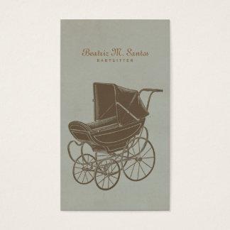 Moderne simple vintage de garde d'enfants de cartes de visite