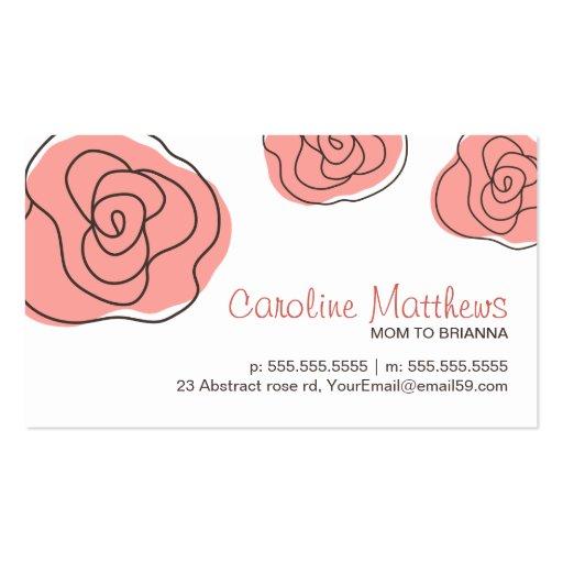 Moderne télécarte rose de rose de maman de maman d cartes de visite personnelles