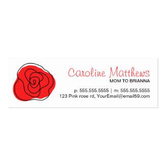 Moderne télécarte rose rouge de maman de maman de cartes de visite professionnelles