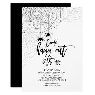 Moderne traînez avec nous la partie de Halloween Carton D'invitation 12,7 Cm X 17,78 Cm