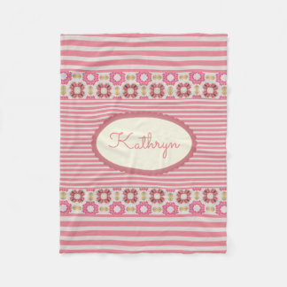 Moderne, vintage et Girly Couverture Polaire