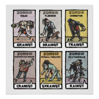 Modes de vie de zombi - affiche posters