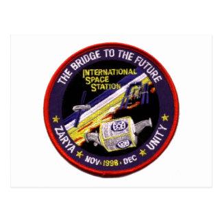 Modules de Zarya-Unité de l'ISS Carte Postale