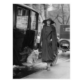 Moi et mon Westie, les années 1920 Carte Postale