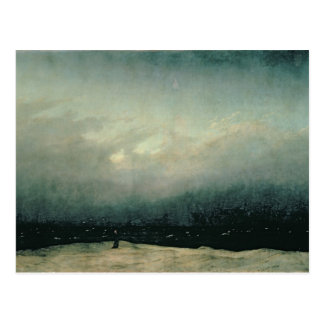 Moine par la mer, 1809 carte postale
