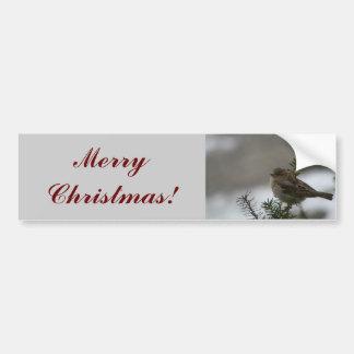 Moineau de Joyeux Noël ! Autocollant De Voiture