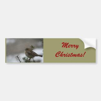 Moineau de Joyeux Noël ! avec l'écriture sainte Autocollant Pour Voiture