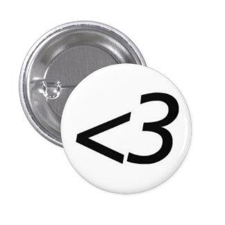 Moins de trois badge rond 2,50 cm