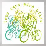 Moins de voitures plus de vélos posters