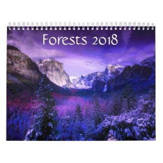 Mois de calendrier des forêts 2018 - 12