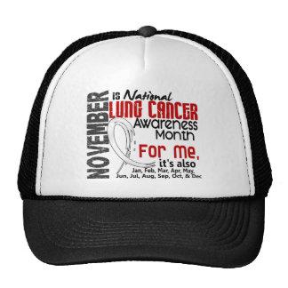 Mois de conscience de cancer de poumon tous les casquettes de camionneur