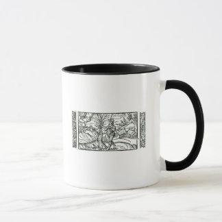 Mois de janvier d'un calendrier de bergers mug