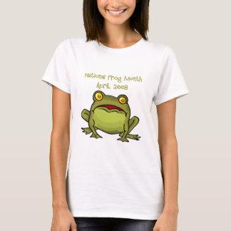 Mois national de grenouille t-shirt