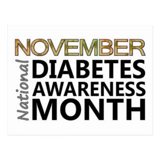 Mois national novembre de conscience de diabète de carte postale