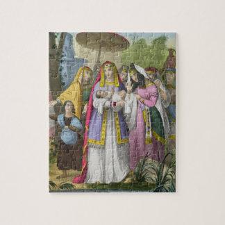 Moïse a économisé par la fille du pharaon, d'un P. Puzzle