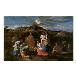Moïse a secouru de l'eau, 1647 poster
