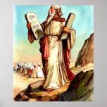 Moïse avec les tables de l'affiche de loi
