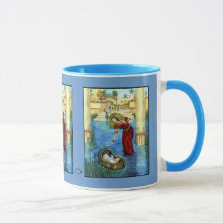 Moïse dans une tasse de panier