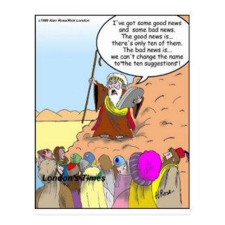 Moïse et les Dix cadeaux et tee - shirts drôles de Carte Postale