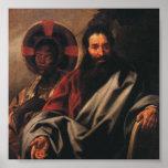 Moïse et son épouse éthiopienne par Jordaens Posters