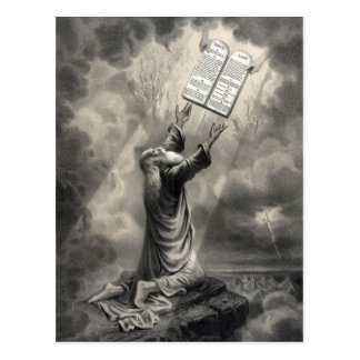 Moïse reçoit la carte postale de loi
