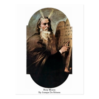 Moïse saint par Jusepe De Ribera Cartes Postales