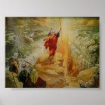 Moïse séparant la copie de la Mer Rouge Posters