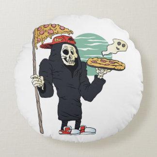 Moissonneuse de la livraison de pizza sinistre coussins ronds