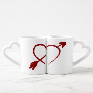 Moitié customisée de mes tasses d'amants de coeur