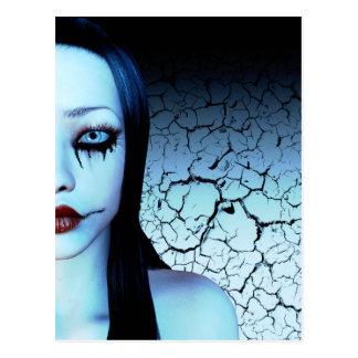Moitié de moi carte postale d'art de Goth