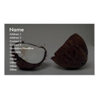 Moitiés délicieuses de noix de coco carte de visite standard