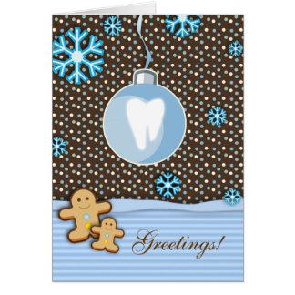 Molaire dentaire de pain d'épice de carte de Noël
