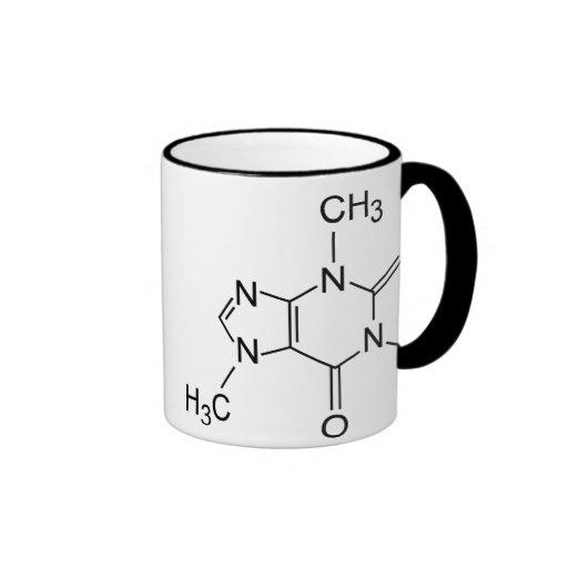 Molécule de café de caféine mug