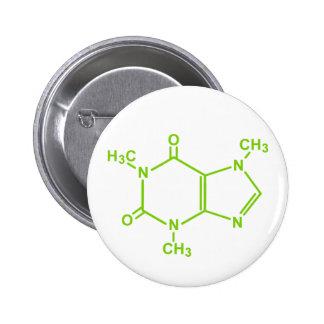 Molécule de caféine badge