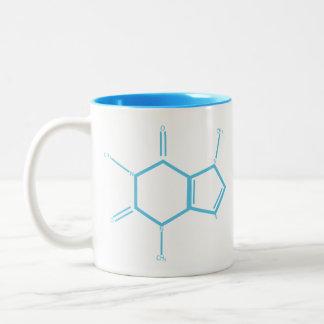 Molécule de caféine - bleu-clair tasse 2 couleurs