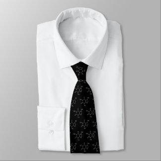 Molécule de caféine - la cravate de café