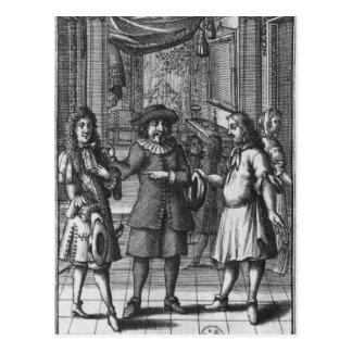 Moliere comme Harpagon, illustration de Carte Postale