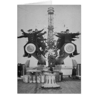 """""""Mollarde"""" et lance sur USS le Texas Cartes De Vœux"""
