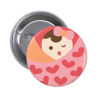 MomBabyGirl15 Badge Rond 5 Cm