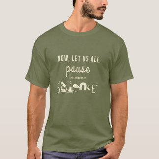 Moment de T-shirt de vert d'armée de la Science