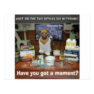 Moment dipolaire de chien de la connaissance cartes postales